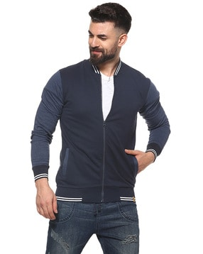 Campus Sutra Textured Full Sleeves Jacket