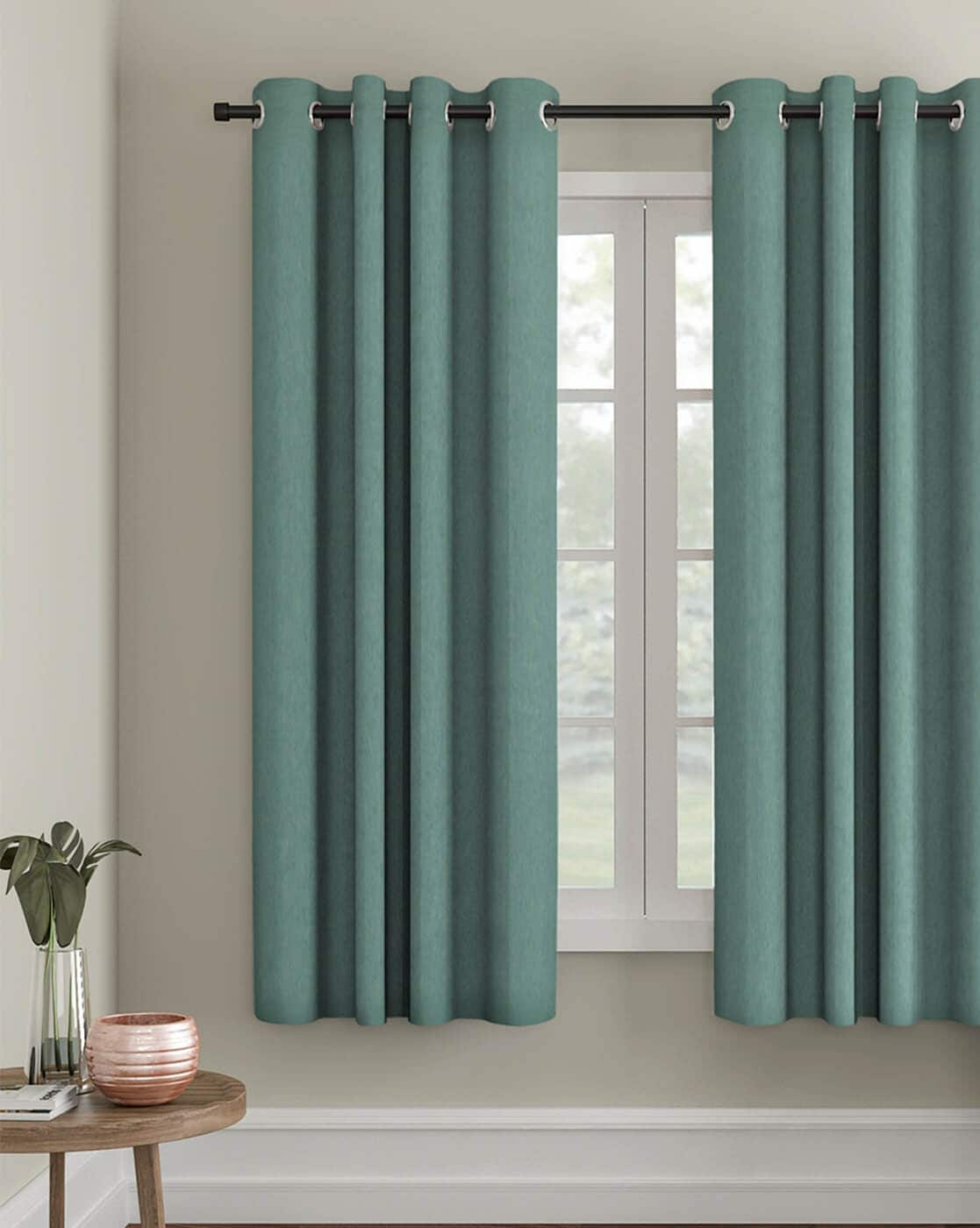 Buy Sea Green Curtains Accessories For Home Kitchen By Eyda Online Ajio Com