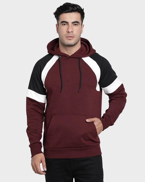 RED TAPE Full Sleeves Colourblock Hooded Sweatshirt