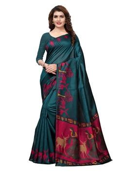SATRANIKashmiri Art Silk Printed Saree