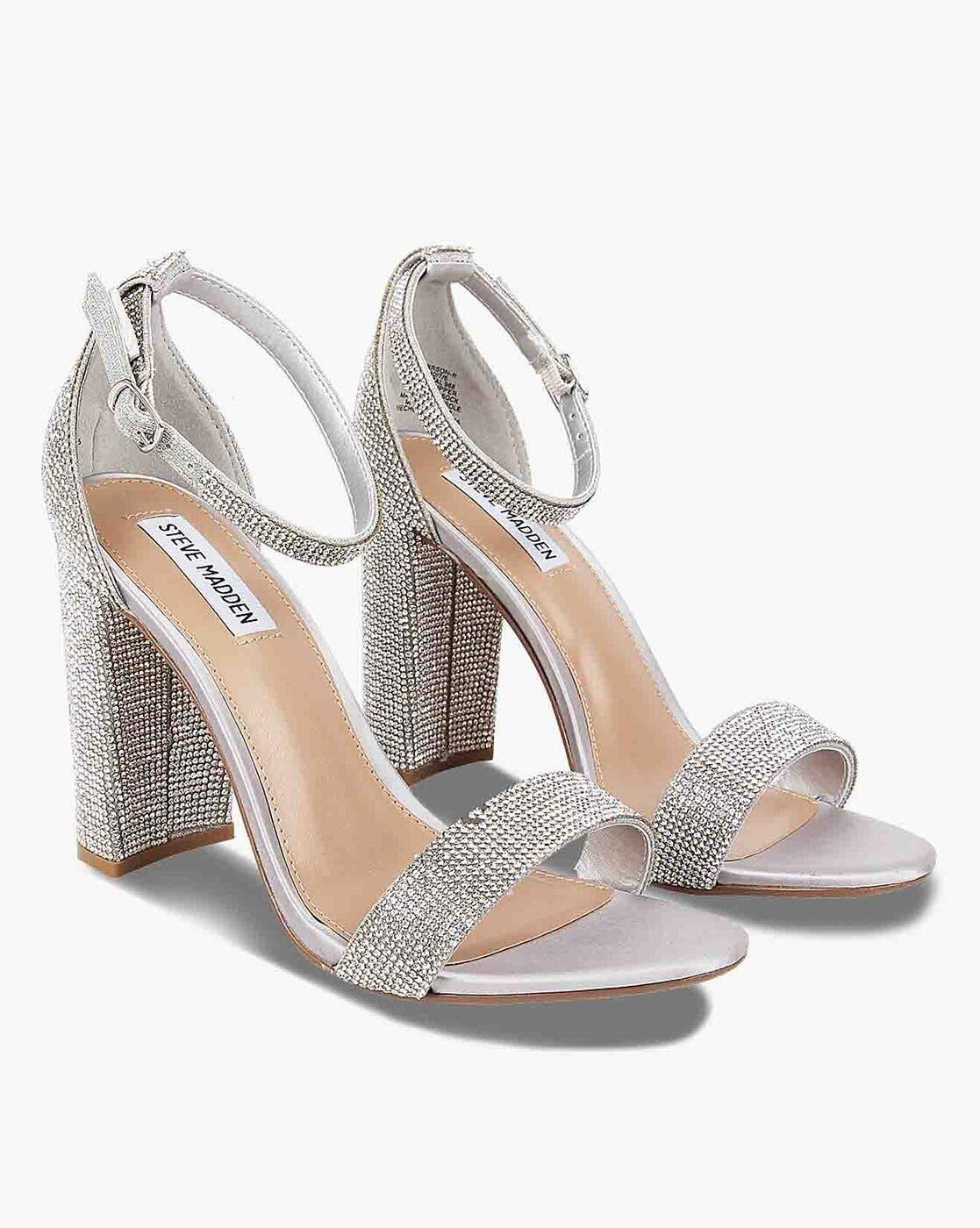 steve madden heels silver