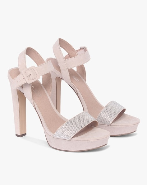 Buy Nude Heeled Sandals for Women by