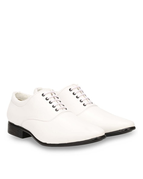 White Formal Shoes for Men by WENZEL