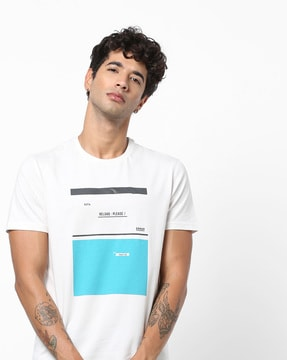 Graphic Print Slim Fit Crew-Neck T-shirt