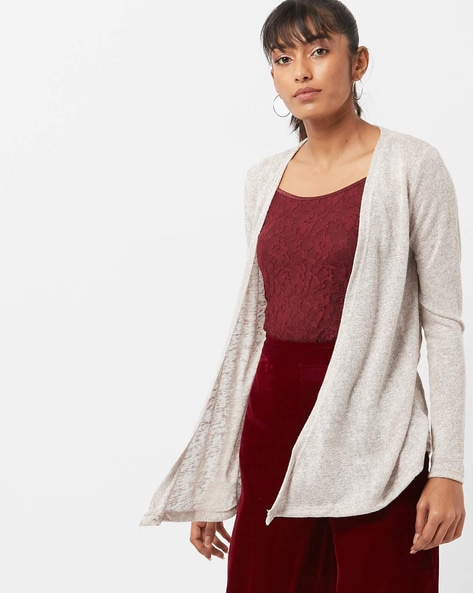 Knitted Open-Front Shrug By BOSSINI ( Beige )
