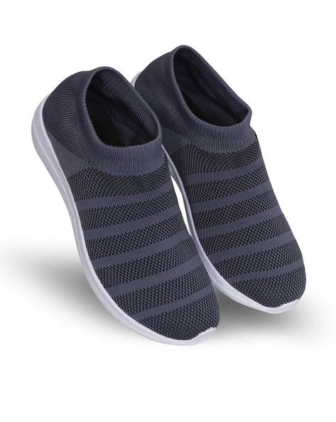 Buy Grey Sports Shoes for Men by SUKUN