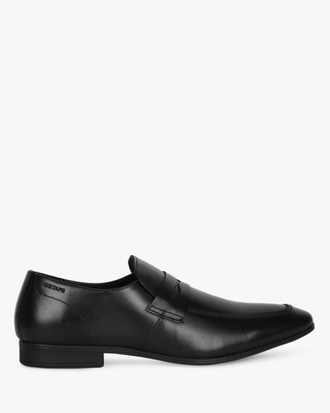 Textured Apron-Toe Slip-On Formal Shoes By RED TAPE ( Black ) - 460236230002