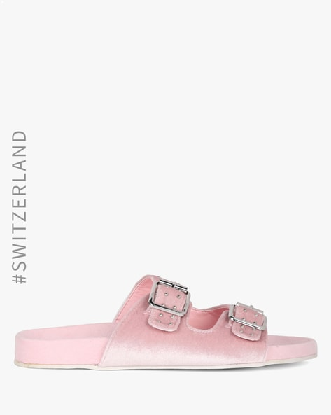 official supplier official store first rate Buy Pink Flat Sandals for Women by TALLY WEiJL Online | Ajio.com