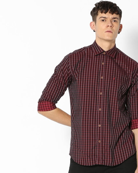 04f11fcd4e9f Buy Maroon Shirts for Men by British Club Online
