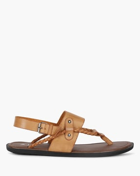 Strappy Casual Sandals with Buckle Closure