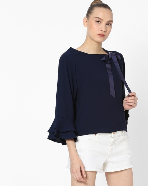eb3ca6cd5d0 Buy Dark Blue Tops for Women by Ginger by lifestyle Online | Ajio.com