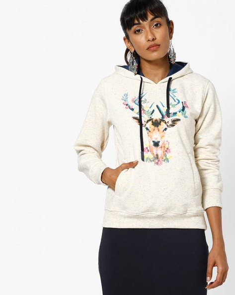 dba98e310db3 Fort Collins Off-White Hoodies Graphic Print Hoodie with Heathered Effect