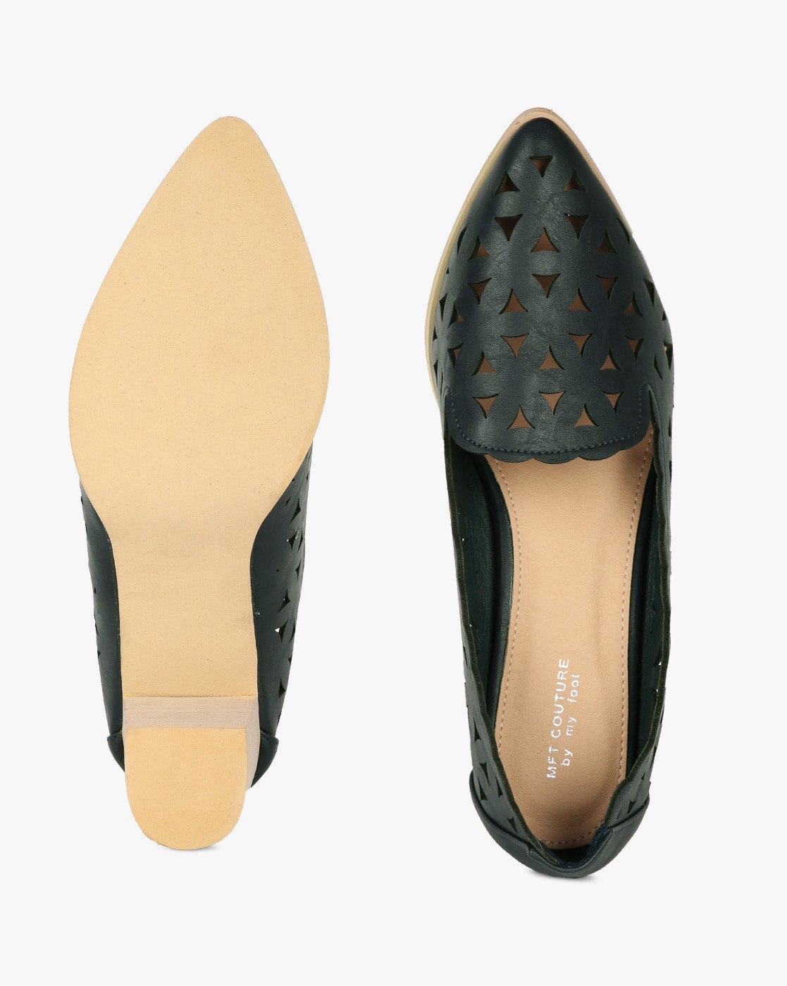 aeb18e2a544 Buy Dark Green Heeled Shoes for Women by MFT Couture Online