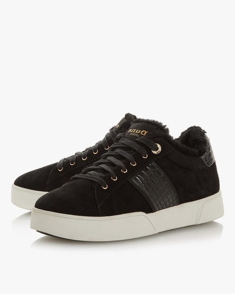 cf2a6d61c Dune London Black Lace-Ups Lace-Up Casual Shoes with Textured Panels