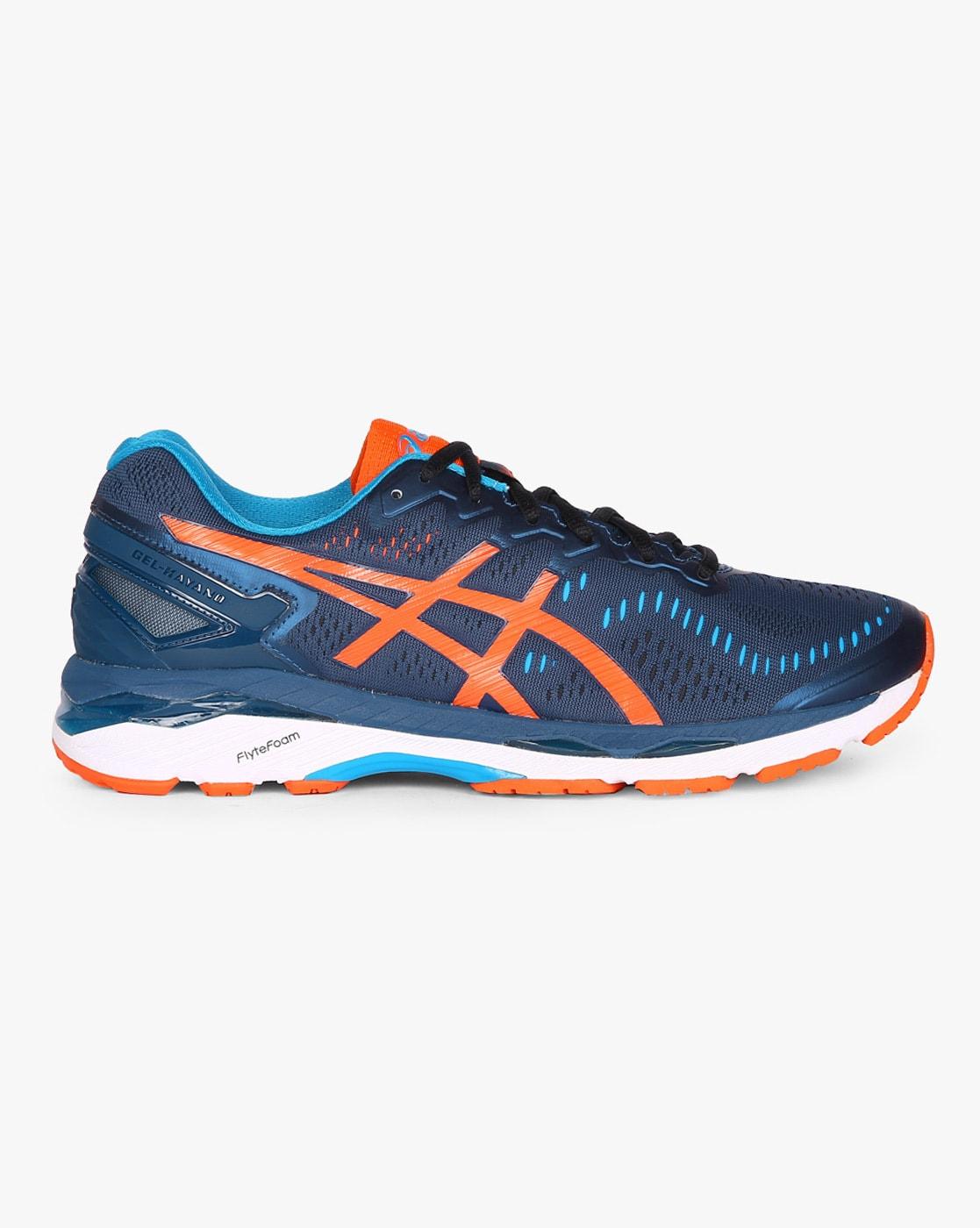 Buy Navy Blue \u0026 Orange Sports Shoes for