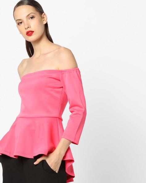 2e5a8620ac0 Home · Women · Western Wear · Tops; Off-Shoulder High-Low Peplum Top.  Previous