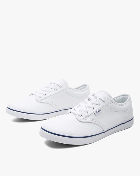 Low-Top Lace-Up Casual Shoes By Vans ( Navy )