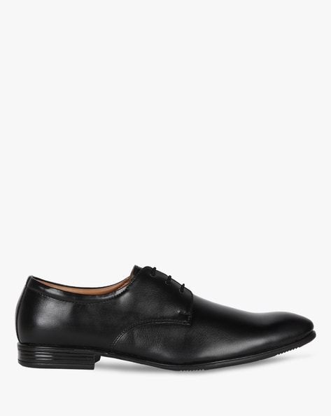 Textured Derby Shoes By Modello Domani ( Black )
