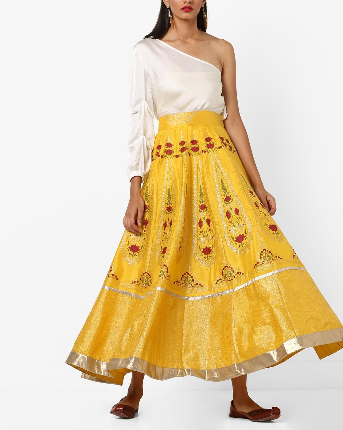 5d89389e47 Buy Yellow Skirts & Ghagras for Women by W Online | Ajio.com