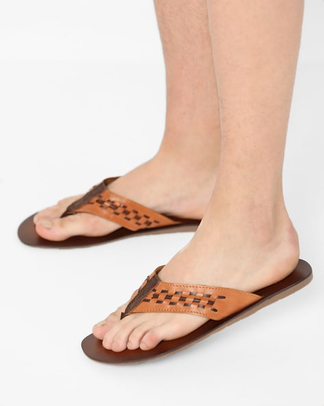 Flip-Flips With Woven Thong-Strap By Estd.1977 ( Brown )