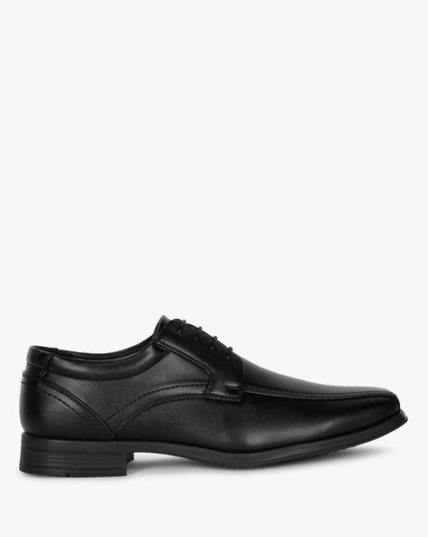 Panelled Derby Formal Shoes By Carlton London ( Black )