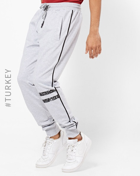 Textured Joggers With Contrast Side Taping By TRENDYOL ( Gray )