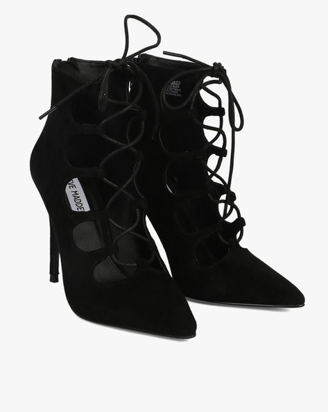 5cc91ebec14 Buy Black Heeled Shoes for Women by STEVE MADDEN Online | Ajio.com