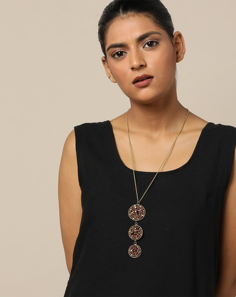 Beaded Long Necklace By Indie Picks ( Gold ) - 460207589001