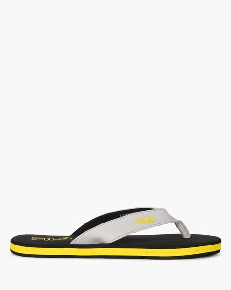 Magnus Flip-Flops With Signature Branding By FILA ( Black )