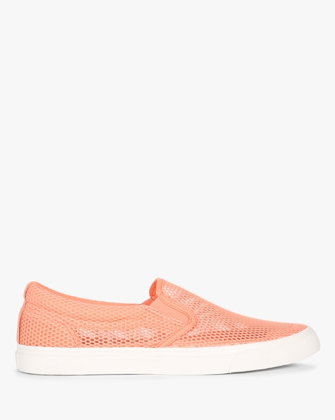 Mesh Plimsolls With Elasticated Gussets By UNITED COLORS OF BENETTON ( Orange )