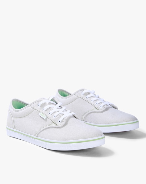 b2e7558adf Brands Mint Green Canvas Low-Top Lace-Up Casual Shoes