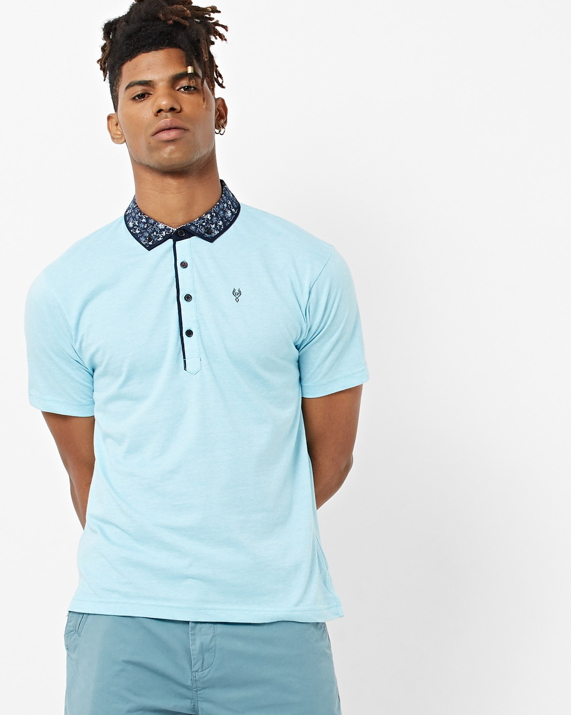 be8ac1c37 CLASSIC POLO. Slim Fit Polo T-shirt with Button-Down Collar
