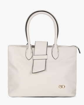 Panelled Tote Bag with Short Handles