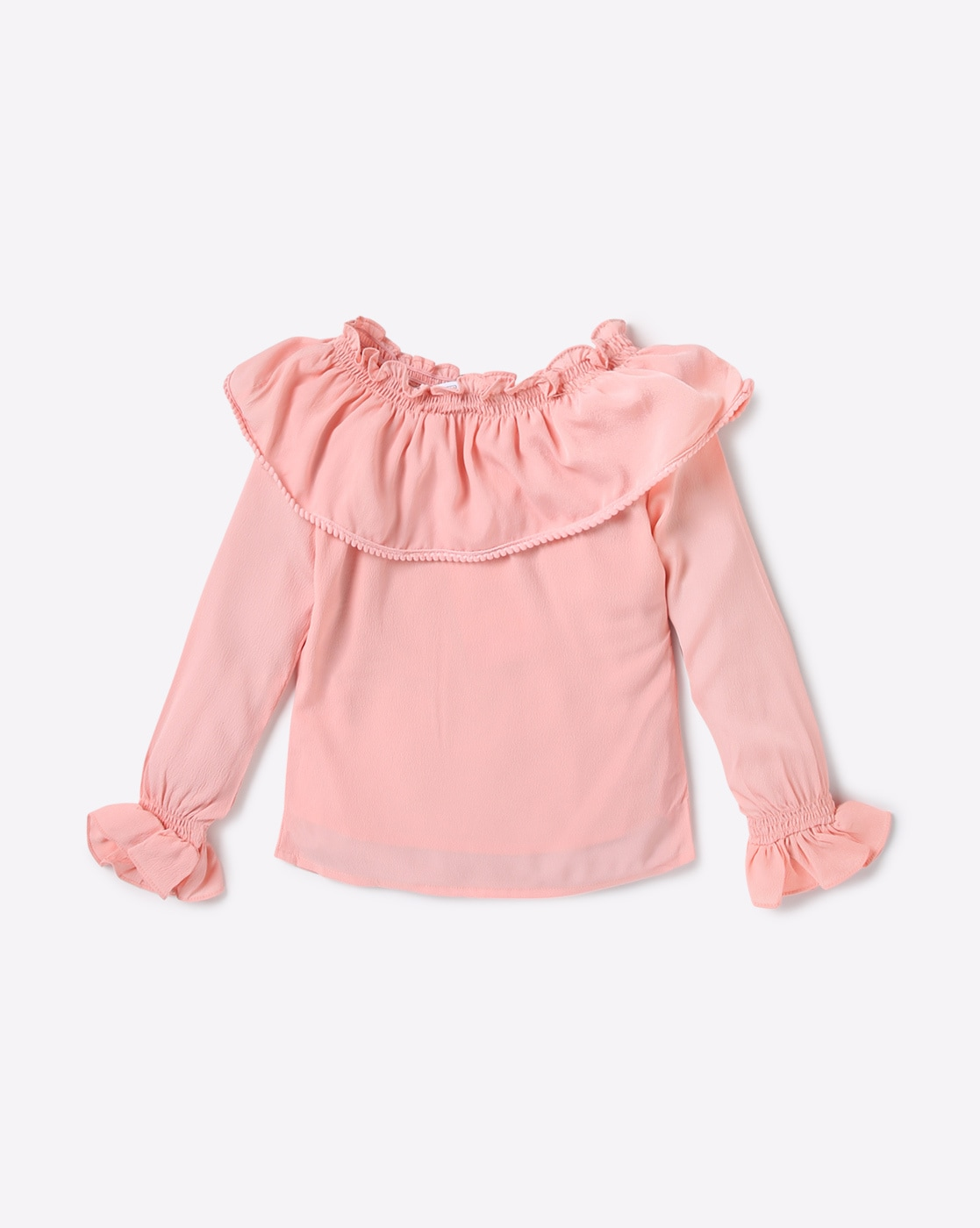 ee615a40a6c Buy Pink Tops & Tunics for Girls by Peppermint Online | Ajio.com