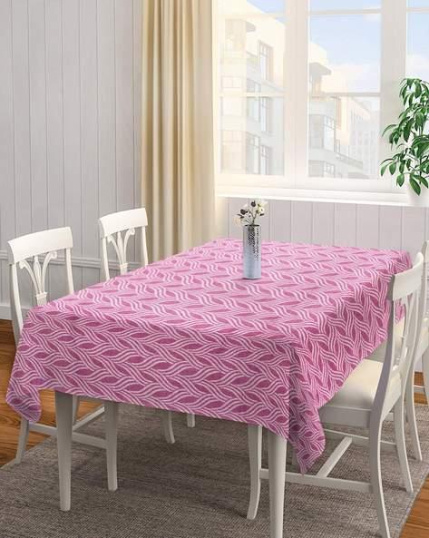 DHROHAR Jacquard Printed 60'' x 90'' Cotton Table Cover