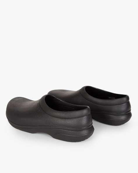 On The Clock Work Slip-On Shoes By CROCS ( Black )