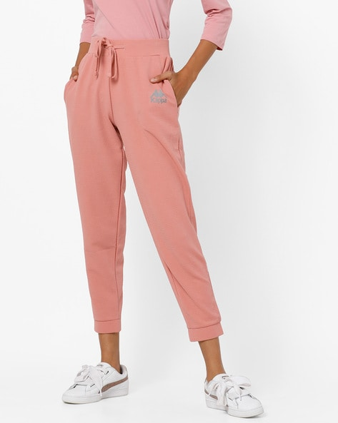 High-Rise Track Pants With Self-Design By KAPPA ( Pink )