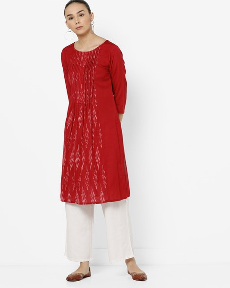 Printed Straight Kurta By IMARA ( Red )