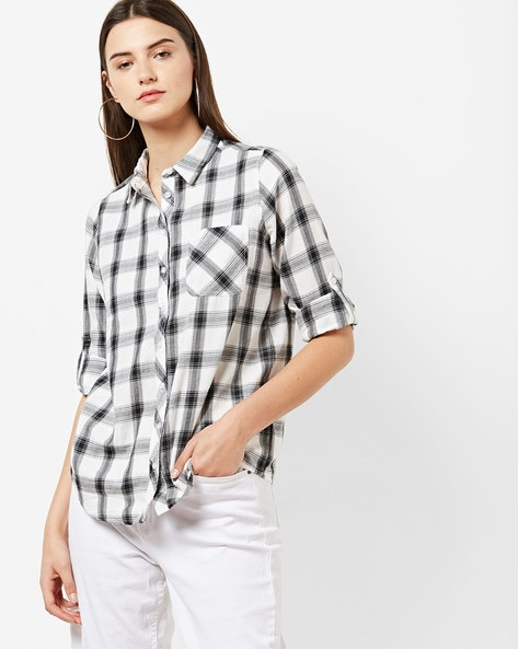 545a585f8af Women s Shirts online. Buy Women s Shirts online in India. – Ajio