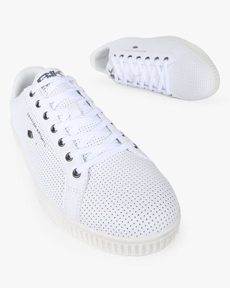 Panelled Lace-Up Shoes With Perforations By British Knights ( White )