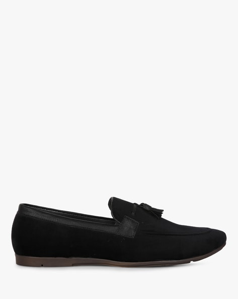 Slip-On Loafers With Tassels By ESCARO ( Black )