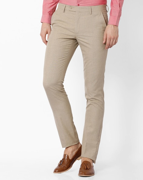 4c03ba7dcb2 Buy Beige Trousers & Pants for Men by Black Coffee Online | Ajio.com
