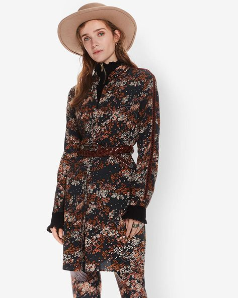 Floral Print Belted Shirt Dress By SCOTCH & SODA ( 22 )