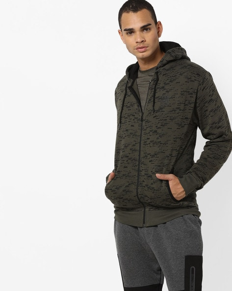 Printed Hooded Sweatshirt With Insert Pockets By PROLINE ( Lightgrey )