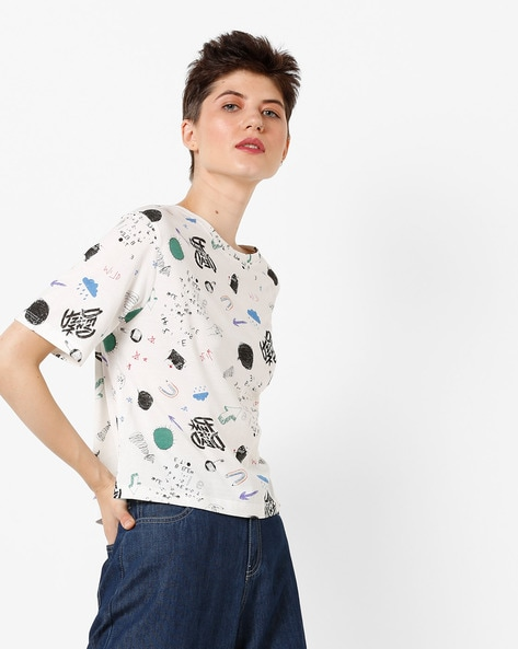 Graphic Print T-shirt By ONLY ( White )