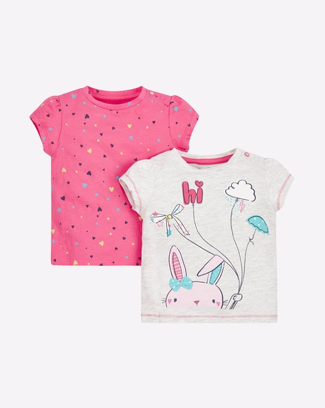 2c83b20580f7 Mothercare Assorted Crew Pack of 2 Graphic Print T-shirts