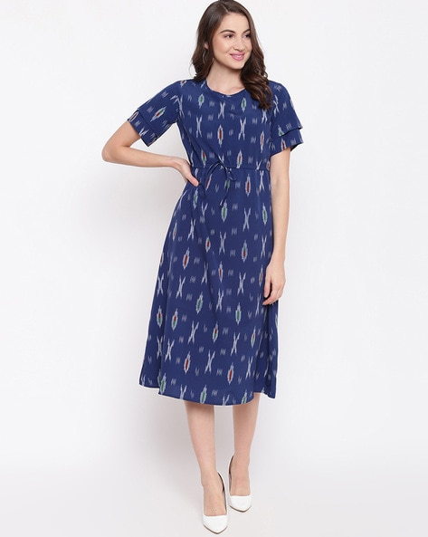 Mayra Abstract A line Dress