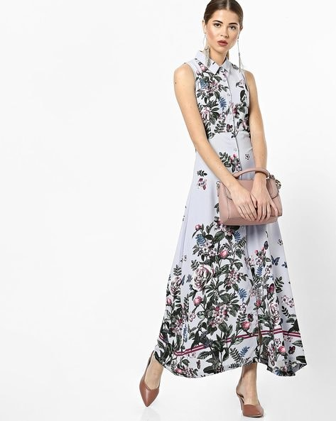 f71dacef6c45 Buy Blue Dresses for Women by CODE by lifestyle Online | Ajio.com