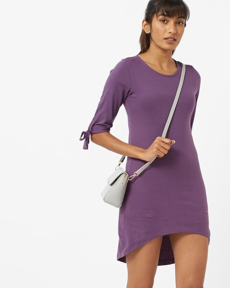 High-Low Sheath Dress With Tie-Ups By ANONYMOUS CO ( Purple )