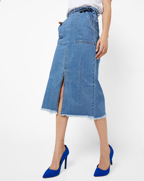 35e0e2a07 Buy Blue Skirts for Women by ONLY Online | Ajio.com
